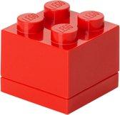 LEGO Mini 4 Opbergbox - 60 ml - Kunststof - Rood
