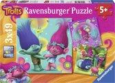 Ravensburger Trolls Poppy´s vrolijke wereld - Drie puzzels van 49 stukjes