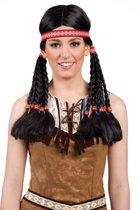 Pruik indiaan met hoofdband Makawee