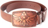 Nintendo - Zelda Platina Buckle with Brown Belt - Riem - Maat XL