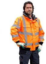 Storvik Werkjas pilotjack High Vision Heren Oranje Reflecterend - Maat 3XL (58) - Drammen