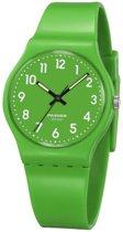 Pasnew - tiener horloge - groen - 32 mm - I-deLuxe verpakking