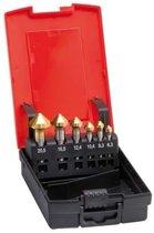 Kopverzinkboren-set HSS TiN DIN 335-C 6,3-20,5mm, 90° In kunststof cassette 7-del