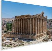 Tempel in het hartje van Baalbek Plexiglas 60x40 cm - Foto print op Glas (Plexiglas wanddecoratie)