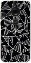 Casetastic Softcover Motorola Moto G7 / G7 Plus - Abstraction Lines Black