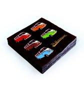 Brisa Set van 20 servetten Volkswagen - Gekleurde bussen