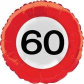 Folie ballon verkeersbord 60 jaar
