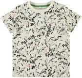 Name it Jongens T-shirt - SnoSnow Whitete - Maat 134-140
