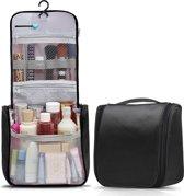 Travelsky Reis Toilettas Hanging met Haak Travel Etui Organizer voor Toiletartikelen Kamperen & Reizen Accessoires – Toilet Bag voor Dames en Heren – Zwart