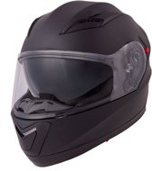 Vinz Harrow Motor Helm incl. Zonnevizier / Integraal Helm - Mat Zwart-Small