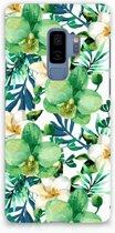 Samsung Galaxy S9 Plus Uniek Hardcase Hoesje Orchidee Groen