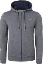 Lacoste heren sweatshirt - antraciet grijs vest (hoody met rits) -  Maat XXL