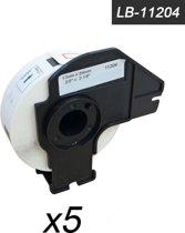 5x Brother DK-11204 Compatible voor Brother 's range of QL printers, 17mm * 54mm