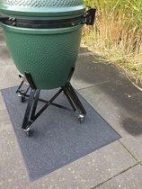 Mat voor barbecue antraciet - 90 x 180 cm