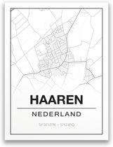 Poster/plattegrond HAAREN - A4