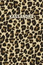 Kassandra: Personalized Notebook - Leopard Print (Animal Pattern). Blank College Ruled (Lined) Journal for Notes, Journaling, Dia