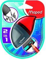 Moondo potloodslijper/gum 1-gaats - rood