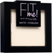 Maybelline Fit Me Matte & Poreless Foundation- 100 Warm Ivory - Poeder