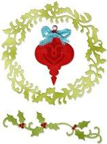 Sizzix Thinlits 3 pcs Kerst versiering by Jen Long-Philipsen