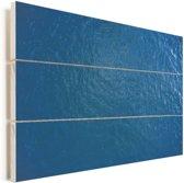 Het blauwe zee oppervlakte Vurenhout met planken 160x120 cm - Foto print op Hout (Wanddecoratie) XXL / Groot formaat!