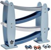 Houten racebaan blauw Kids Concept