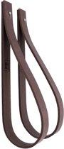NOOBLU leren ophanglus - SLING 2,5 cm - maat M - donkerbruin (2)