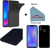 Pearlycase® Zwart Tpu Siliconen Case voor Huawei P Smart Plus