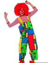 Carnaval Tuinbroek clownsbroek kind Mondriaan Maat 140