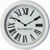 Riverdale Time Wandklok Wit 38 cm