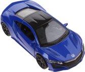 Welly Schaalmodel Honda 2015 Nsx 1:34 Blauw 11,5 Cm