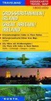 KUNTH Reisekarte Grossbritannien - Irland 1 : 800 000