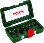 Bosch Houtfrezen - � 8 mm schacht - 6-delig - geschikt voor alle merken