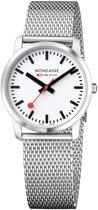 Mondaine Simply Elegant M400.30351.16SBM Horloge - Edelstaal - Zilverkleurig - Ø36 mm