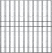 vidaXL Dubbelstaafmatten 2008 x 2030mm 46m Grijs 23 stuks