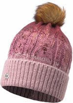KNITTED HAT BUFF - NISSE TIBETAN RED