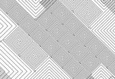 Fotobehang Abstract Pattern Black White | PANORAMIC - 250cm x 104cm | 130g/m2 Vlies