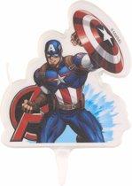 Captain America verjaardagskaars - Feestdecoratievoorwerp