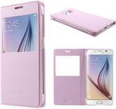 Samsung Galaxy S6 Window View Hoesje Licht Roze