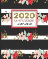 2020 Family Organizer And Planner: Striped Black And White, Floral Family 2020 Calendar, Birthday List, Medical And Insurance Details, Password Keeper