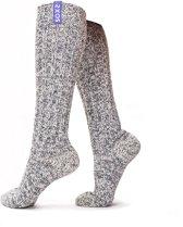 SOXS® Warme Kniekousen Dames – Wollen Sokken – Lavendel Label – Maat 37/41
