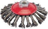 Silverline Borstelwiel met getordeerd draad 115 mm