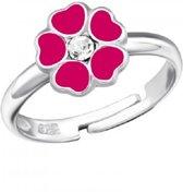 Little Bijoux verstelbare kinderring-roze bloem