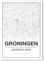 Poster/plattegrond GRONINGEN - A4