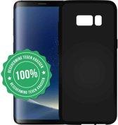 Mat Zwart TPU Siliconen hoesje voor Samsung Galaxy S8