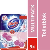 Glorix  Wc Blok Pink Flower - toiletblok - 9 stuks