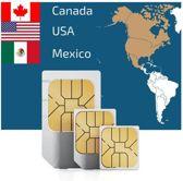 Amerika / Canada / Mexico - Unlimited Prepaid Simkaart (geen hotspot mogelijk)