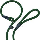 Nobby fun retriever lijn lijn en halsband in 1 groen 0,9 x 170 cm - 1 st