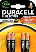 Duracell AAA Plus Power - 4 stuks