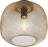 QAZQA bliss - Plafondlamp - 1 lichts - Ø 300 mm - Goud/messing