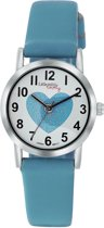 Little Miss Lovely  ML13536-113 - Horloge - Leer - Blauw - Ø 25 mm
